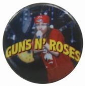 Guns N'Roses - 'Axl Red Stage' Button Badge